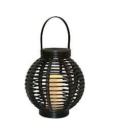 Lumabase Solar Powered Basket Lantern with LED Candle