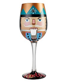 Enesco Lolita Wine Glass Let's Be Nutty
