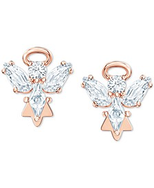 Rose Gold-Tone Crystal Angel Stud Earrings