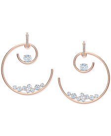 Medium Rose Gold-Tone Crystal Hoop & Swirl Earring Jackets 1-7/8""