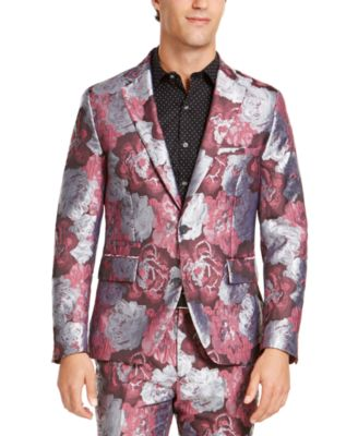 INC Men's Slim-Fit Smoked Rose Jacquard Blazer, Created For Macy's
