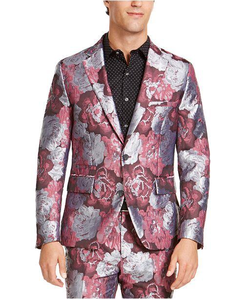 INC International Concepts INC Men's Slim-Fit Smoked Rose Jacquard Blazer, Created For Macy's