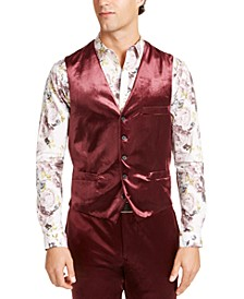 INC Men's Slim-Fit Shiny Velvet Vest, Created For Macy's