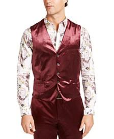 INC Men's Big & Tall Shiny Velvet Vest, Created For Macy's