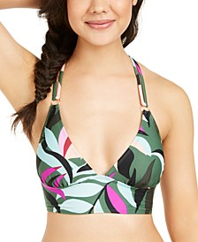 Juniors' Hyper Tropics Printed Bikini Top, Available in D/DD, Created for Macy's