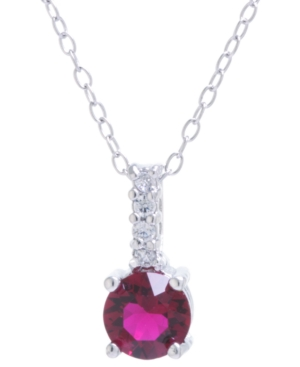 """Crystal and Cubic Zirconia Bar Pendant with 18"""" Chain in Sterling Silver. Available in Clear"""