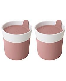 Leo Collection 8.4-Oz. Porcelain Travel Mug, Set of 2