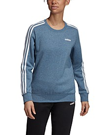 Essentials 3-Stripe Fleece Sweatshirt
