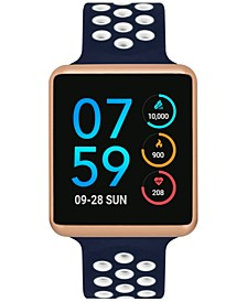 Unisex Air Navy & White Silicone Strap Touchscreen Smart Watch 35x41mm, A Special Edition