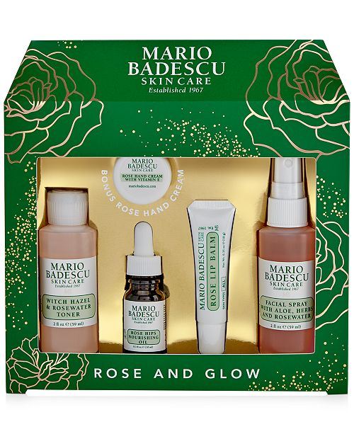 Mario Badescu Created For Macy S 5 Pc Rose And Glow Set