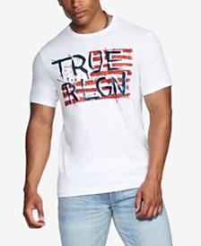 True Religion Men's TRUE RLGN Pained Flag T-Shirt