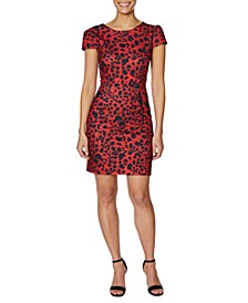 Petite Leopard-Print Sheath Dress