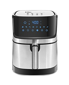 5-Qt. Stainless Steel Digital Hot Air Fryer with Adjustable Timer and Temperature for Oil-free Cooking