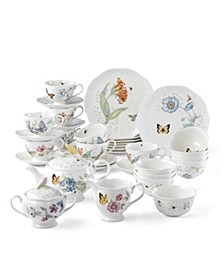 Butterfly Meadow 37 Piece Tea/Dessert set, Created for Macy's