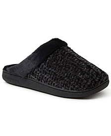 Women's Chenille Knit Scuff Slipper, Online Only
