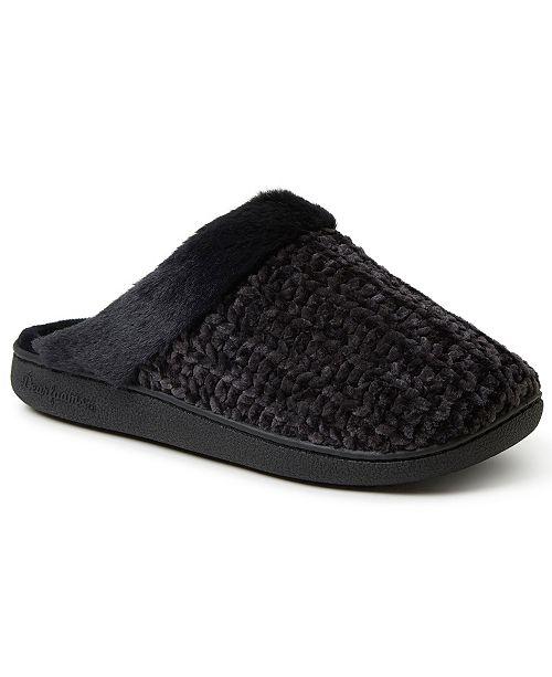 Dearfoams Women's Chenille Knit Scuff Slipper, Online Only
