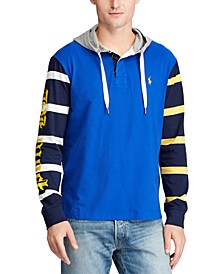 Men's Color-Blocked Hooded Rugby