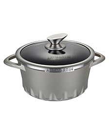 Die Cast Aluminum Round Casserole Lid with Induction Bottom 8.7""