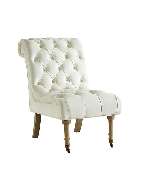 INSPIRED HOME Dolly Velvet Rolled Back Accent Chair