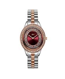 JBW Women's Bellini Diamond (1/6 ct. t.w.) Watch in Two Tone 18k Rose Gold-plated Stainless-steel Watch 30mm