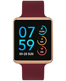 Unisex Air Merlot Silicone Strap Touchscreen Smart Watch 35x41mm - A Special Edition