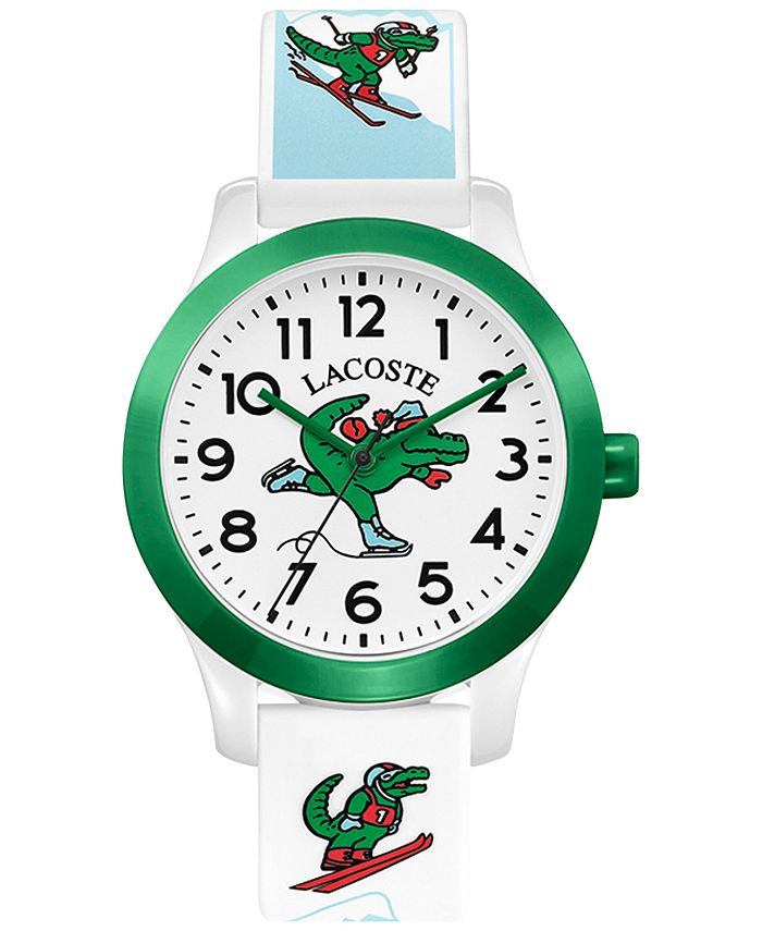Lacoste - Kid's 12.12 White Silicone Strap Watch 32mm