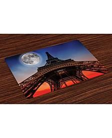 Eiffel Tower Place Mats, Set of 4