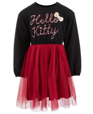 Hello Kitty Little Girls Stars Mesh-Overlay Dress
