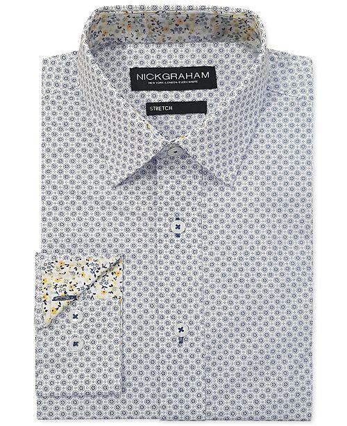 Nick Graham Men's Modern-Fit Circle Medallion Shirt