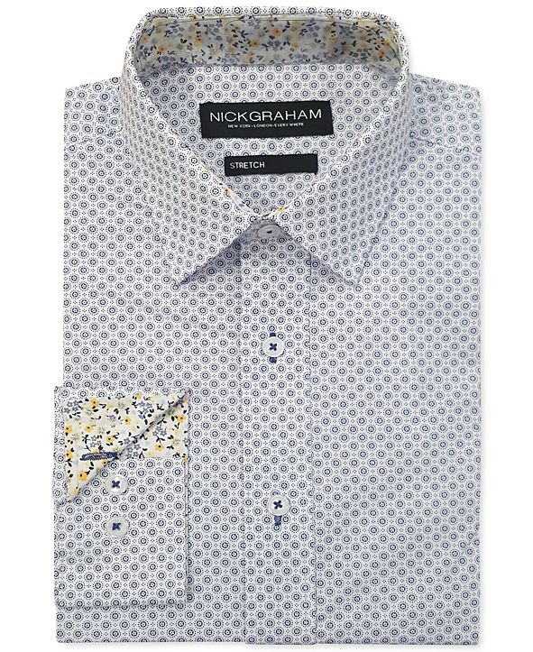 Nick Graham Men's Modern-Fit Circle Medallion Shirt