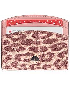 Metallic Leopard Card Holder