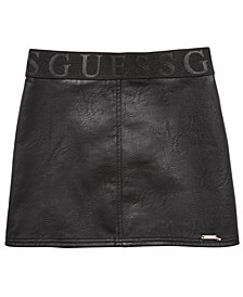 Big Girls Faux Leather Skirt