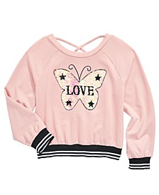 Big Girls Flip Sequins Butterfly Top