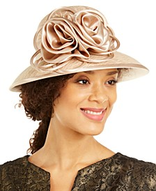 Lace Widebrim Hat with Flower
