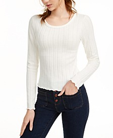 Juniors' Plush Ribbed Top