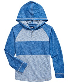 Big Boys Ferris Pieced Colorblocked Hooded Henley