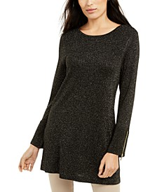 Glitter-Knit Tunic Sweater, Created For Macy's