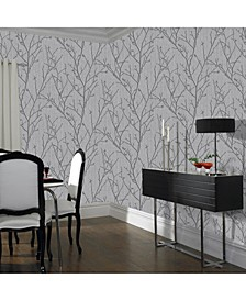 Water Silk Sprig Wallpaper