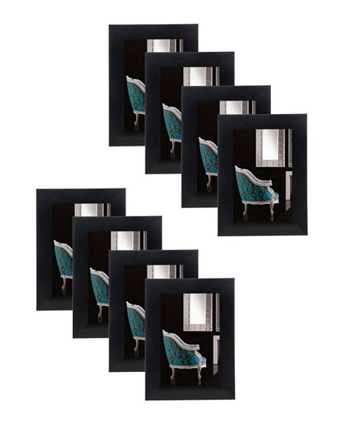 "Philip Whitney Black 4"" x 6"" Frame - Set of 8"