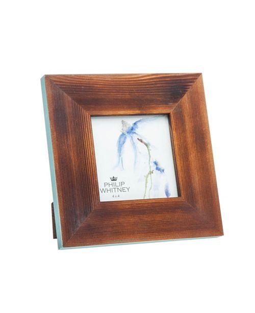 "Philip Whitney Wood Blue Edge Frame - 4"" x 4"""