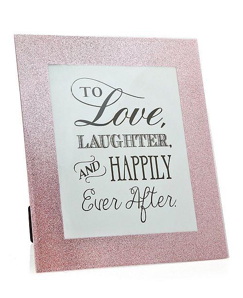 "Philip Whitney Glitter Glass Pink Frame - 8"" x 10"""