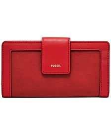 Logan Leather Tab Clutch