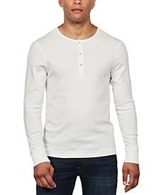 Men's Ardor Granddad Slim-Fit Henley Long Sleeve T-Shirt