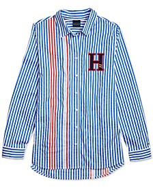 Women's Noonian Multi-Stripe Shirt with Magnetic Closures