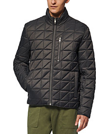 Marc New York Men's Brompton Quilted Mid Bomber with Removable Sherpa Liner