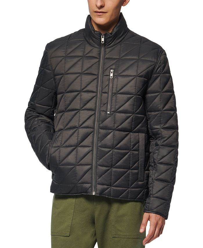 Marc New York - Men's Brompton Quilted Mid Bomber with Removable Sherpa Liner