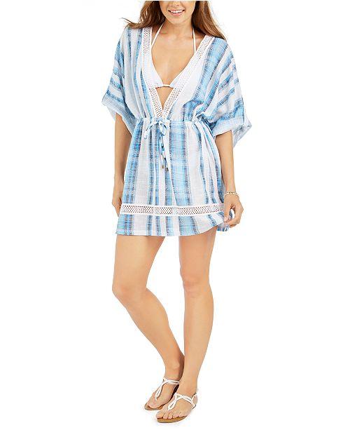 Dotti Mykonos Cotton Striped Kimono Cover-Up