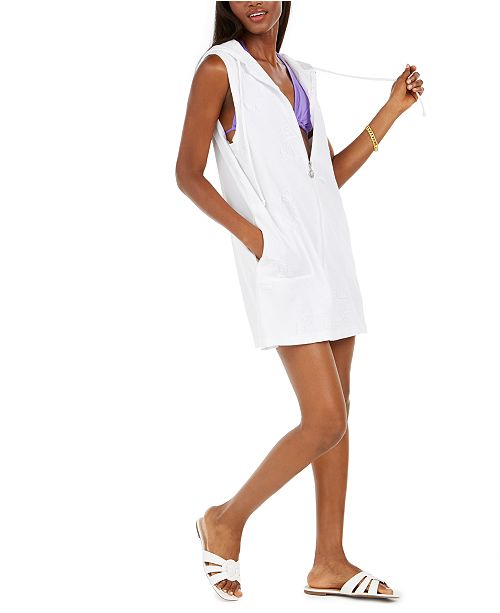 Dotti Sail Away Hooded Jacquard Cover-Up Dress