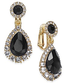 Pavé & Stone Clip-On Drop Earrings, Created For Macy's