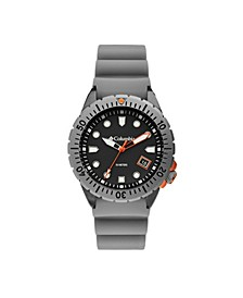 Men's Pacific Outlander Gray Silicone Strap Watch 42mm